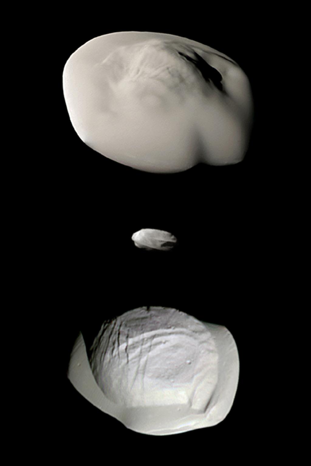 2017.06.29:カッシーニにより明らかになった土星の衛星の異様な姿